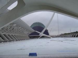La Ciudad de las Artes y las Ciencias Complejo arquitectónico de Valencia.