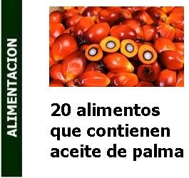 Alimentación – 20 alimentos que contienen aceite de palma
