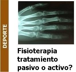 Deporte – Fisioterapia. Cuál es mejor, el tratamiento pasivo o el tratamiento activo
