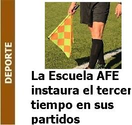 Deporte – La Escuela de la AFE instaura el 'tercer tiempo' en sus partidos