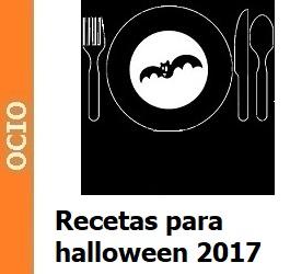 Recetas terroríficas para halloween 2017