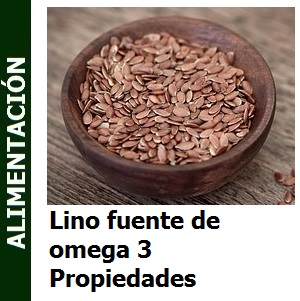 Lino fuente de omega 3 Propiedades
