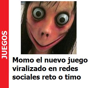Momo, el nuevo juego viralizado en redes sociales, reto o timo