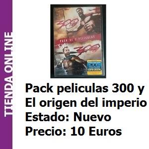 Tienda Pack peliculas 300 y 300 el origen del imperio