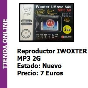 Tienda Reproductor IWOXTER MP3 2G