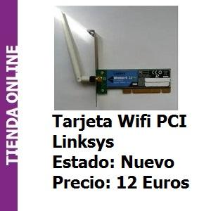 Tienda Tarjeta Wifi PCI Linksys Wireles-G 2.4Ghz