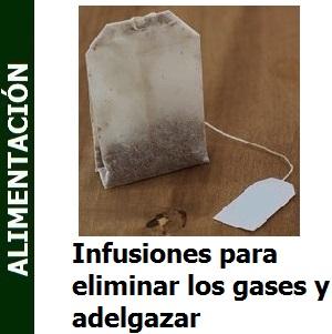 Infusiones para eliminar los gases y adelgazar